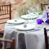 Ritz wedding table decor